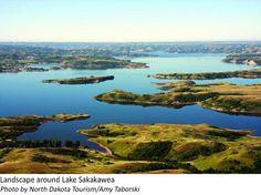 Lake Sakakawea Photo by North Dakota Tourism/Amy Taborski Miss North Dakota, Theodore Roosevelt National Park, Travel And Tourism, The Great Outdoors, State Parks, National Parks, Scenery, Landscape, Trail