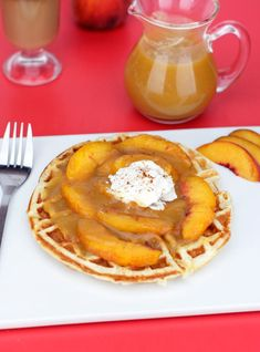 Peach Waffles Recipe | MrBreakfast.com