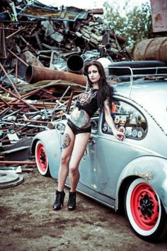 Girls w/Tattoos and VW's.... and rusty metal , these are a few of my favorite things!