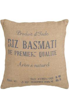 Surya Basmati Decorative Pillow Burlap