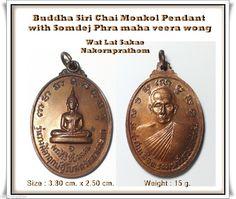 phra buddha pendant with somdej phra maha veera wong in the back wat lat sakae