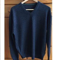 Men 100% cashmere sweater knitted pullover  size 50 vintage