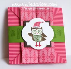 Julie's Stamping Spot -- Stampin' Up! Project Ideas Posted Daily: Owl Occasions Box Card VIDEO Tutorial