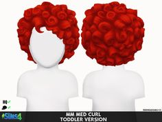 Coupure Electrique: Med curl hair retextured- toddlers version  - Sims 4 Hairs - http://sims4hairs.com/coupure-electrique-med-curl-hair-retextured-toddlers-version/