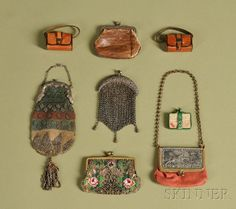Eight Doll Purses | Sale Number 2476, Lot Number 434 | Skinner Auctioneers