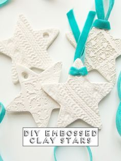 Embossed Clay Star Decorations