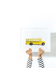 Kids' Art Car Prints, Red Vans, International Scout, Double Decker Bus, Cars Series, Matchbox Cars, S Car, Boy Room, Kids Room
