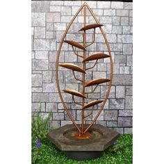 Purchase the excellent Holmfirth Copper Cascade Water Feature by Aqua Moda online today. This sought after item is currently in stock - buy securely on Garden Figments 'The Online Garden Design Shop' today. Outdoor Water Features, Pond Water Features, Garden Art, Garden Design, Garden Ponds, Cascade Water, Tree Designs, Trees To Plant, Outdoor Structures