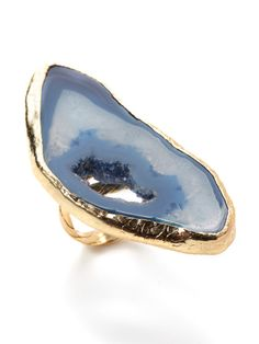 Dara Ettinger Agate Ring on Gilt