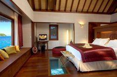 On the Modern Wedding blog - Honeymoon in Bora Boar. Photo - Sofitel Bora Bora Beach Resort (overwater bungalow room). #honeymoon