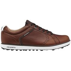 17ce7895637359 Mens Golf Shoes Idea | Ashworth Cardiff ADC 2 Spikeless Golf Shoes 2015 Tan  BrownDark BrownWhite Medium 105 ** Click image to review more details.