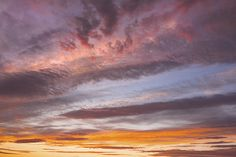 Colorful Sunset clouds over Maine photo prints.