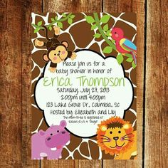 Its a wild time with a boys safari baby shower baby shower bliss its a wild time with a boys safari baby shower baby shower bliss pinterest shower invitations babies and babyshower filmwisefo
