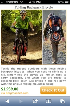 Backpack Bicycle