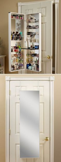 Space-Saving Over-the-Door Beauty Organizer ♥ #organize #makeup