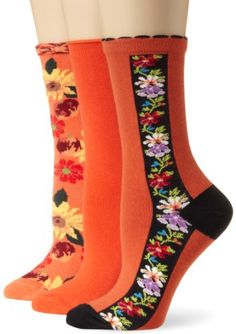 Ozone Women's Citrus Blooms Crew 3 Pack Sock, Orange, One Size Ozone,http://www.amazon.com/dp/B00DJPPRLU/ref=cm_sw_r_pi_dp_nXyutb0T2W6DM6Z0