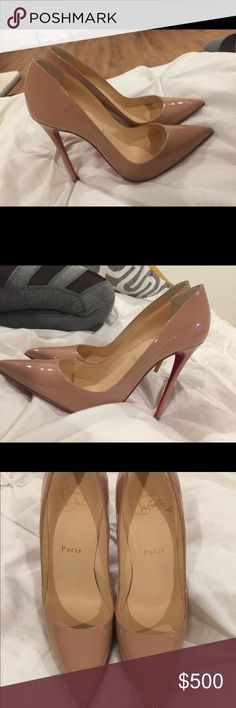 LV So Kate Heels LV So Kate Nude Heels   Worn one time. They have a protective cover on the bottoms that are made by LV Louis Vuitton Shoes Heels