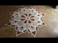 Rangoli Designs Simple Diwali, Rangoli Simple, Free Hand Rangoli Design, Small Rangoli Design, Colorful Rangoli Designs, Beautiful Rangoli Designs, Mandala Design, Rangoli Borders, Rangoli Border Designs