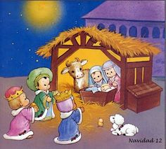 The Christmas Story: The Birth of Jesus Wallpapers :Magi found Mary and Jesus in the barn - The Nativity scene Wallpaper Wallpaper Christmas Clipart, Christmas Nativity, A Christmas Story, Christmas Pictures, Vintage Christmas, Christmas Holidays, Christmas Crafts, Whimsical Christmas, Wallpaper Infantil