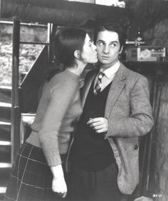 Jean-Pierre Léaud and Claude Jade in Baisers Volés, 1968 directed by François Truffaut