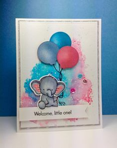 Adorable Elephants: MFT, smooshing technique, watercolor, critter sketch, by beesmom at splitcoast