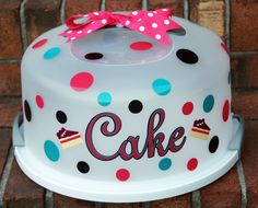 Cake Carrier Target Unique Used Cricut For This Projectcake Carrier From Target And Vinyl Design Decoration