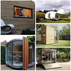 5 Garden Office Designs- which my office was like this!
