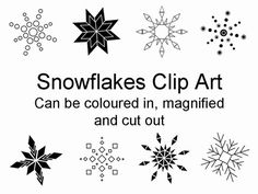 Snowflakes Clip Art PowerPoint Template - One of a number of nice templates from Presentation Magazine.