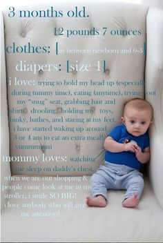 Adorable idea for monthly photos - baby's first year!