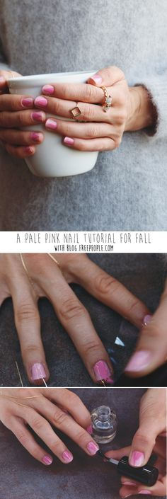 The Pale Pink Nail Tutorial You Need For Fall - Free People Blog