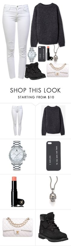 """Movies with my Best Friend"" by barbararibeiro2000 ❤ liked on Polyvore featuring J Brand, Acne Studios, Movado, Chanel, Alexander McQueen and Timberland"
