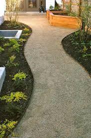 Decomposed granite path, steel edging, contemporary garden
