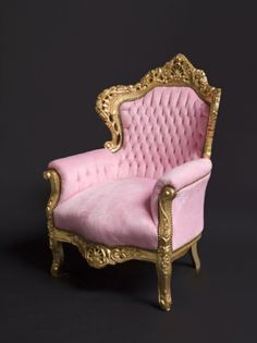 to ] Great to own a Ray-Ban sunglasses as summer gift. Pink Furniture, Furniture Styles, Home Decor Furniture, Princess Chair, Everything Pink, Take A Seat, Pink Velvet, Shabby Chic, Room Decor
