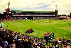Watching SA Cricket at St Georges park - PE
