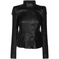 ROBERTO CAVALLI Leather Shoulder Detail Jacket