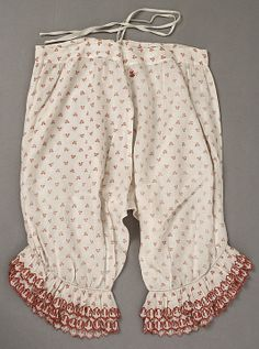 Underpants (Pantalets)  Date: mid-19th century Culture: American or European Medium: cotton