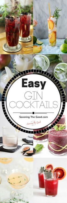 Gin cocktails have become a recent favorite. I found these cocktails to be easy and I didn't realize how much I needed them in my life. Enjoy these recipes. #gin #Cocktail