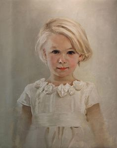 Gorgeous oil portrait of a young girl by an artist exclusively with Portraits, Inc!