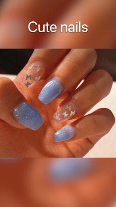 Acrylic Nails At Home, Acrylic Nails Coffin Short, Simple Acrylic Nails, Best Acrylic Nails, Cute Nails, Pretty Nails, Cute Acrylic Nail Designs, Nail Art Designs, Acylic Nails