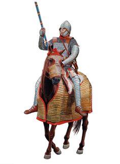 Битва при Большой Мурсии, 351 год н.э. Римский катафрактарий. Художник Velimir Vuksic.