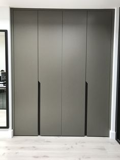 Using the highest quality materials, Neatsmith's hinged door wardrobes can be mirrored & come in a variety of colours. Wardrobe Cabinet Bedroom, Wardrobe Design Bedroom, Bedroom Cupboard Designs, Bedroom Bed Design, Bedroom Cupboards, Bedroom Furniture Design, Modern Bedroom Design, Modern Wardrobe, Wardrobe Door Designs