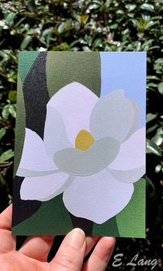 Magnolia Greeting card by Atlanta artist Elizabeth Lang. Affordable Wall Art, Limited Edition Prints, Magnolia, Original Artwork, Atlanta, Greeting Cards, Make It Yourself, The Originals, Artist