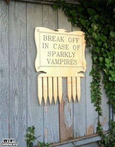 Break off in case of sparkly vampires.