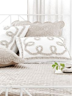 Ruched Fanny Platinum Bed   Pine Cone Hill