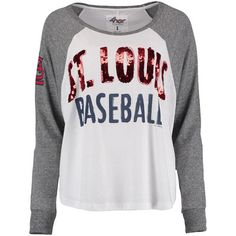 Women's St. Louis Cardinals G-III Sports by Carl Banks Gray Triple A Long Sleeve T-Shirt