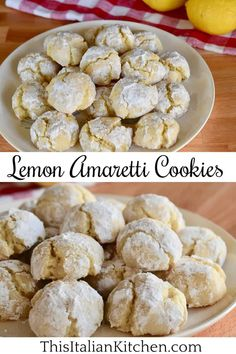 Soft Lemon Amaretti Cookies are a great take on traditional Italian Amaretti Cookies. These cookies are naturally gluten free and dairy free too! #amaretticookies #lemoncookies