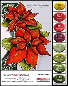 Passionate Paper Creations + Copics. Card Colour Challenge. Wendy Schultz - Challenges.