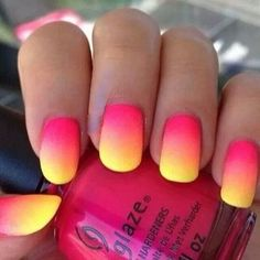 Makeup and beauty / my world #ombre #sunset #chinaglaze #nails