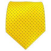Ties - Mini Dots - Yellow/Navy - Ties
