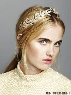 Headpiece by Jennifer Behr, available at www.jenniferbehr.com and Lovely NY!